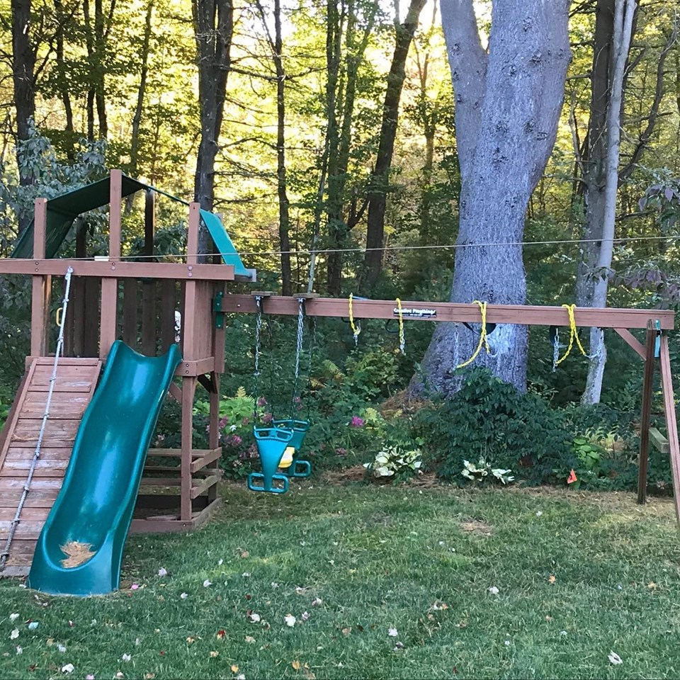Removal of Old Swing Set in Franklin Massachusetts