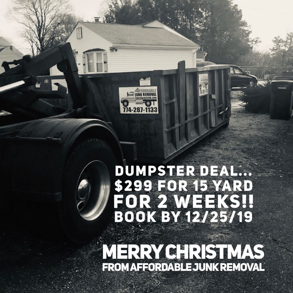 Christmas Dumpster Rental Special